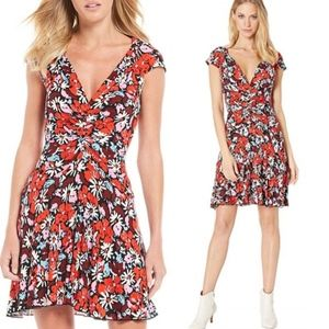 Free People Key To Your Heart Floral Mini Dress XS